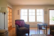 Windows and new hardwood floors in living room